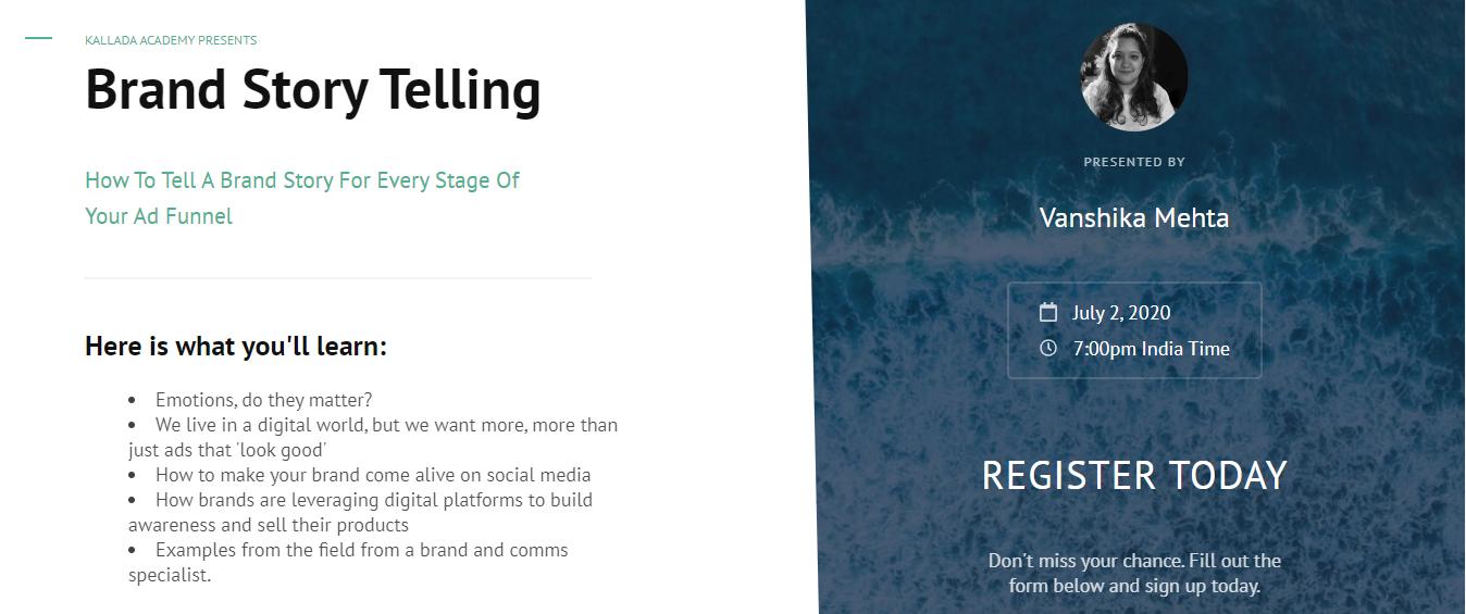 Digital Storytelling Done Right – Kallada Academy [2 July 2020]